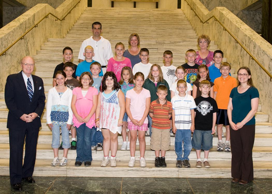 Senator Farley Greets Jefferson Elementary School Students