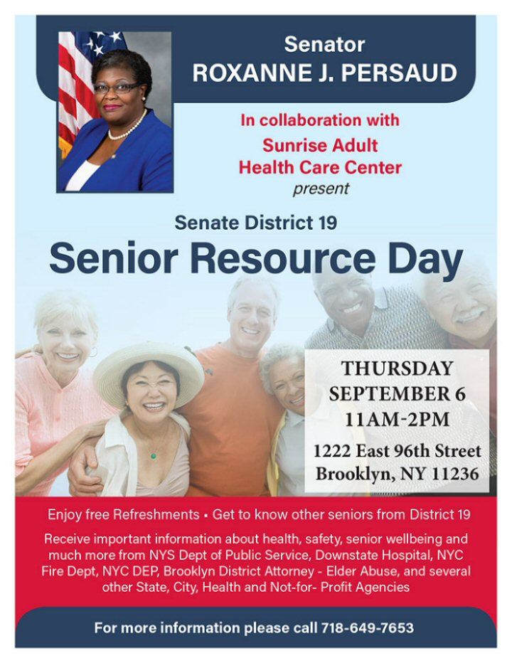 Senator Roxanne J  Persaud brings Resources to seniors in