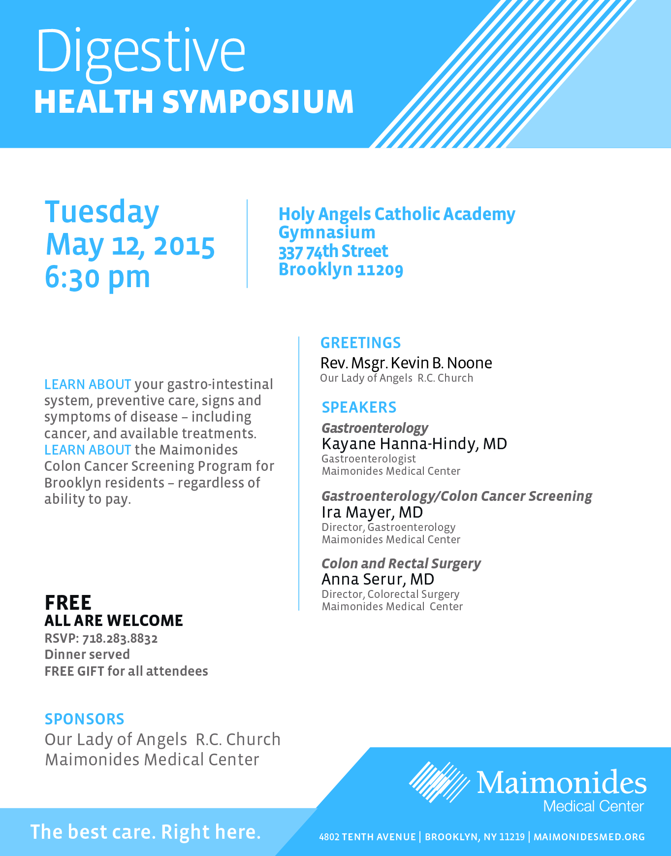 DIGESTIVE HEALTH SYMPOSIUM PRESENTED BY MAIMONIDES MEDICAL