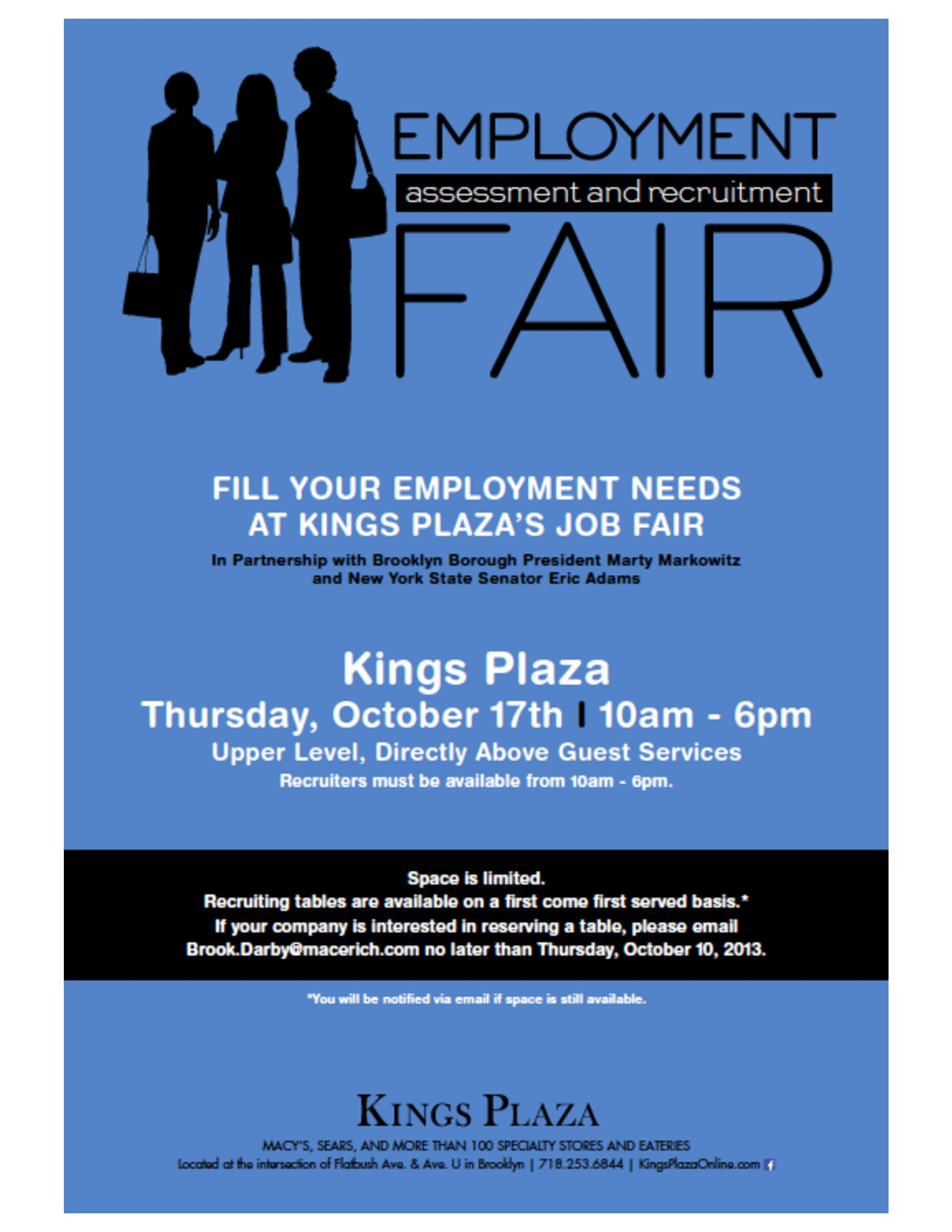 job fair at kings plaza thursday october 17 2013 ny state senate