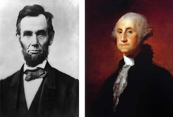 the presidencies of abraham lincoln and george washington