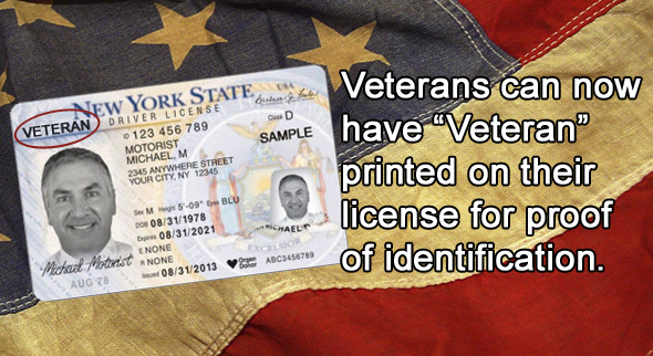 nys drivers' licenses now carry veteran status | ny state senate