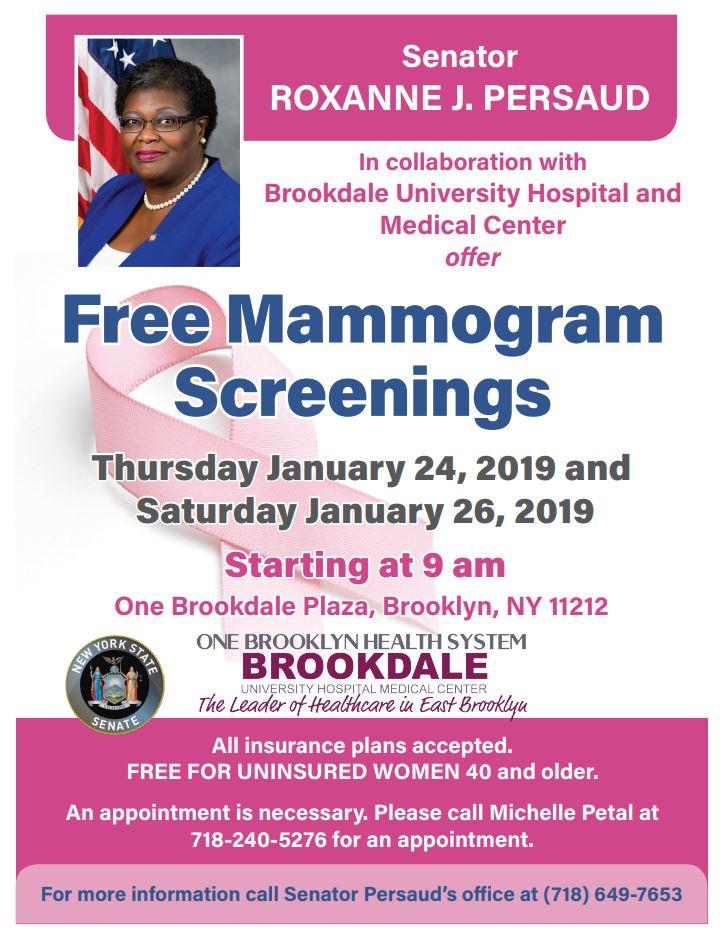 Free Mammogram Screenings | NY State Senate