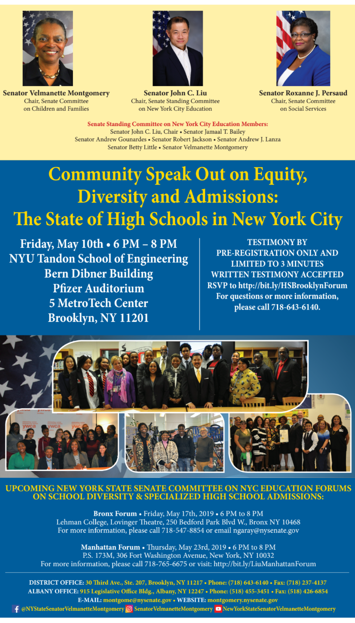 School Diversity and Specialized High School Admissions Community