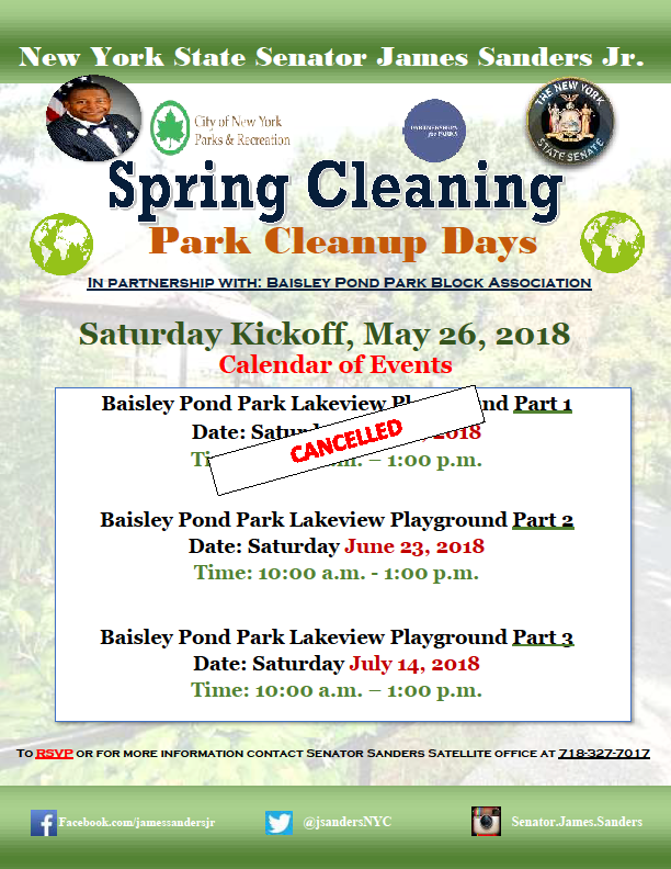 Spring Cleaning - Park Cleanup Days | NY State Senate