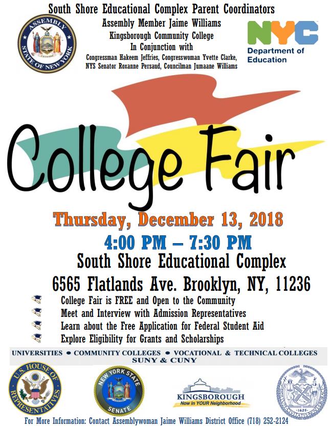 South Shore Educational Complex College Fair | NY State Senate