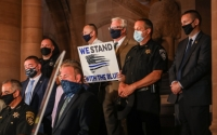 """Senator O'Mara and his colleagues joined law enforcement representatives at the State Capitol today to support the """"Protect Those Who Protect Us"""" legislation."""
