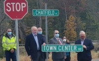 """""""I am proud to have had the opportunity to help move the Town Center Road project forward and share the excitement of the local community over what it means for the future of this area,"""" said Senator O'Mara."""