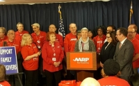 Senator May with AARP members
