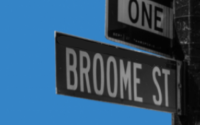 Broome Street sign