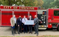 """""""Thank you to Corning's firefighters, and their fellow first responders throughout the region, for their outstanding commitment, day in and day out, to save lives, protect property and strengthen the quality of area communities in so many ways,"""" said Senator O'Mara and Assemblyman Palmesano."""