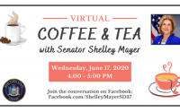 coffee & tea with senator shelley mayer, 6/2020