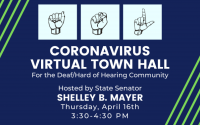 coronavirus virtual town hall for the deaf hard of hearing community