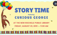 august story time with curious george