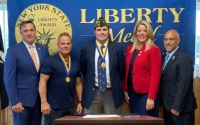 """Senators Palumbo & Weik Present Liberty Medals to Guillermo Sandoval and Frank """"J.R."""" Recupero for their Heroic and Courageous Actions on April 10, 2021"""