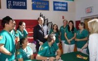Lanza with Wagner College Nursing Students