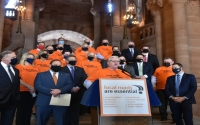 "In a joint statement, O'Mara and Palmesano said, ""We have always stood together with New York's county and town highway superintendents, and local leaders, and we will continue to do everything we can to raise awareness and call for legislative support.  Local roads are essential.  State investment in our local transportation infrastructure is critical to the future of local communities, economies, environments, governments and taxpayers."""