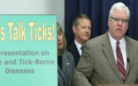 """""""Important actions over the past several years have helped broaden the state's overall response to the spread of Lyme and other tick-borne diseases, and it has made a difference on the local level.  Nevertheless, much more needs to be done, particularly in the areas of reporting, testing and treatment, and education and awareness,"""" said Senator O'Mara."""