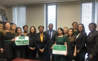 Senator Montgomery, Senator Benjamin, Senator Persaud with members of the NY Junior League