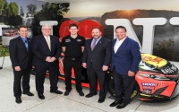 From left to right at the 2019 Motorsports Appreciation Week exhibit at the Empire State Plaza in Albany: Assemblyman Friend, Senator O'Mara, Professional Driver Colin Braun, Assemblyman Palmesano, and WGI President Michael Printup.