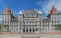 Landscape photo of the New York State Capitol, Albany NY