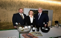 In the photo above at this year's Sip and Sample, from left to right: Assemblyman Palmesano, Erica Paolicelli (NYWIA President and Co-owner of Three Brothers Wineries & Estates in Geneva), and Senator O'Mara.