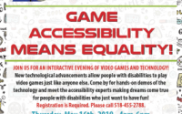 Senator Roxanne J. Persaud, in Partnership with the AbleGamers Foundation, presents G.A.M.E Day in Senate District 19. Thursday, May 16th, 2019 • 4pm-6pm @ Brookdale University Hospital Cafeteria, One Brookdale Plaza | Brooklyn, NY 11212.