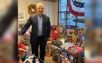 Senator Boyle with Benefactor Toy Donation