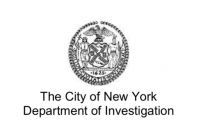 "The seal of New York City above the text ""The City of New York Department of Investigation"""