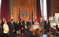 "At a Capitol news conference, Senator O'Mara and other members of the Senate Republican conference unveiled a ""Real Solutions"" plan calling for a cap state government spending, making New York's property tax cap permanent, comprehensive mandate relief and regulatory reform, and broad-based tax relief."