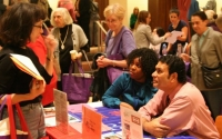 Attendees at the Senior Resource Fair