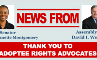 Montgomery/Weprin Adoptee Rights Bill Awaits Governor's Signature