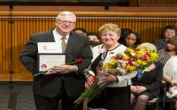 """Senator O'Mara and 2018 """"Woman of Distinction"""" Kathryn J. Boor, Dean of the College of Agriculture and Life Sciences at Cornell University."""
