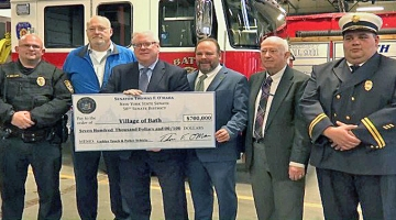Senator O'Mara and Assemblyman Palmesano helped secure state funding to support the village of Bath's fire and police departments.