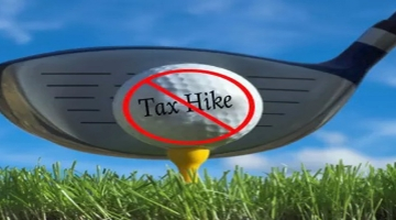 """Senator O'Mara said the proposed """"golf tax"""" could end up driving local courses out of business and lead to higher green fees and others costs for area golfers."""