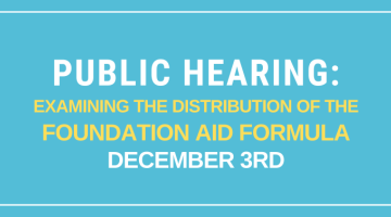 public hearing foundation aid formula updated