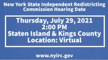 New York State Independent Redistricting Commission Hearing