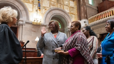 On Jan. 9, the first day of the 2019 Legislative Session in New York, Roxanne J. Persaud was officially sworn in again as New York State Senator of the 19th Senatorial District.
