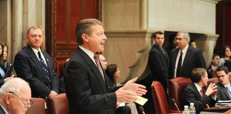 Senator Gallivan on the Senate floor | NY State Senate