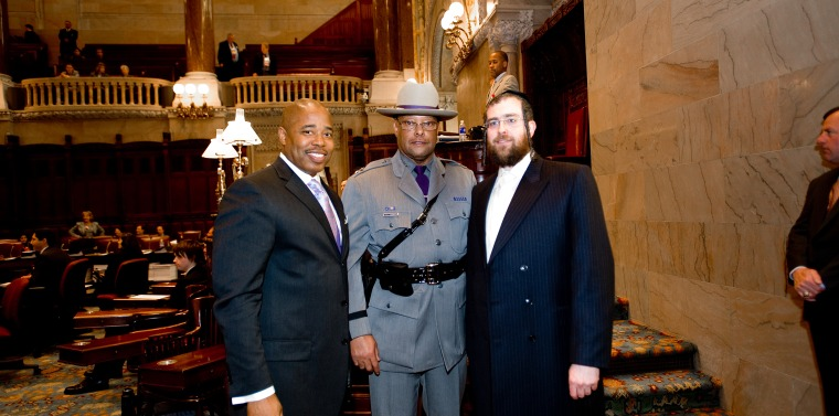 Senator Adams with NYS Police Superintendent Harry James