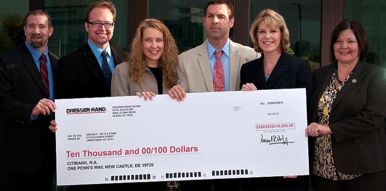 Senator Young Joins Dresser Rand As They Present A Check To