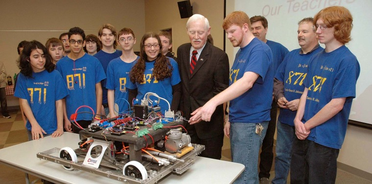 West Islip High School Robotics Club Demonstrated Invention At West