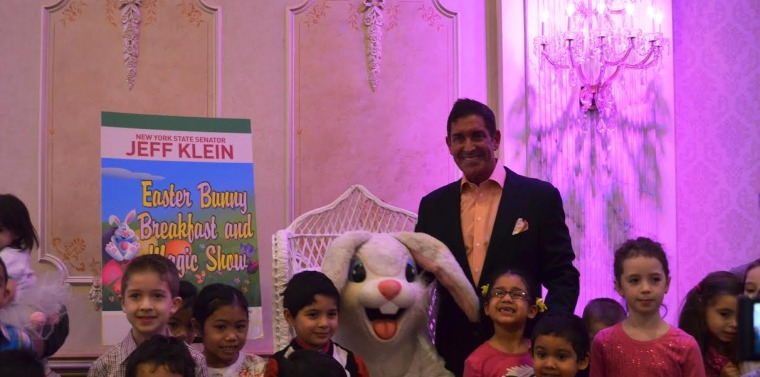 Senator Klein Hosts 20th Annual Easter Bunny Breakfast And Magic Show