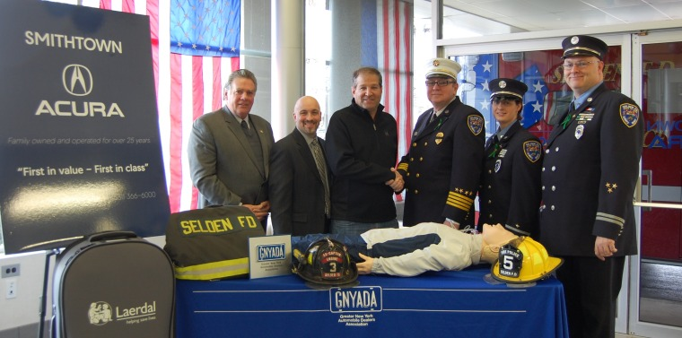 Smithtown Acura Donates Life-Saving CPR Units to the Selden Fire