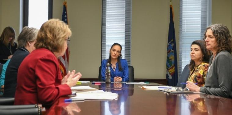 Senator Julia Salazar, Chair of the New York State Senate Women's Issues Committee