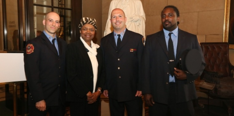 Senator Montgomery welcomes FDNY to Albany