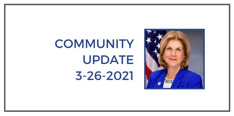 community update 3-26-2021