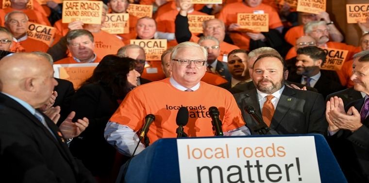 """Senator O'Mara and Assemblyman have helped lead the """"Local Roads Matter"""" campaign."""