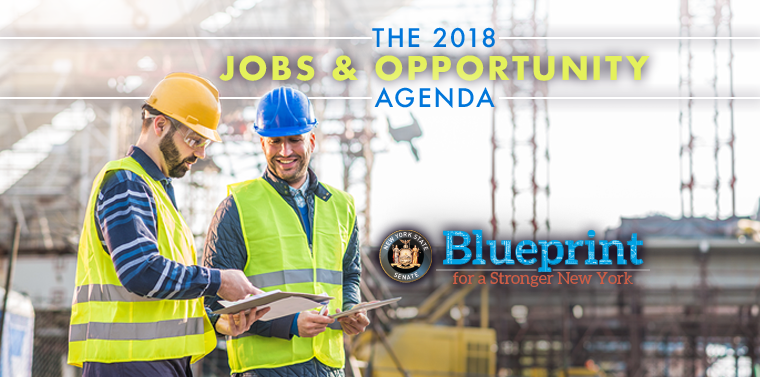 Senate majority unveils 2018 jobs and opportunity agenda ny state second part of the blueprint for a stronger new york puts focus on creating jobs and improving the states business climate malvernweather Image collections