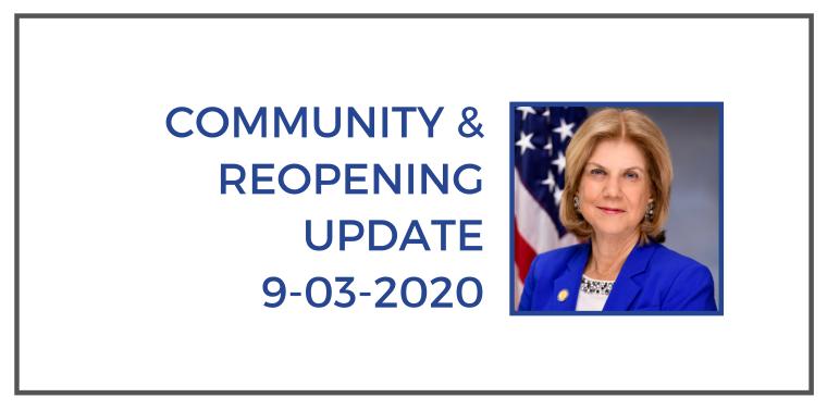 community updates 9-3-2020